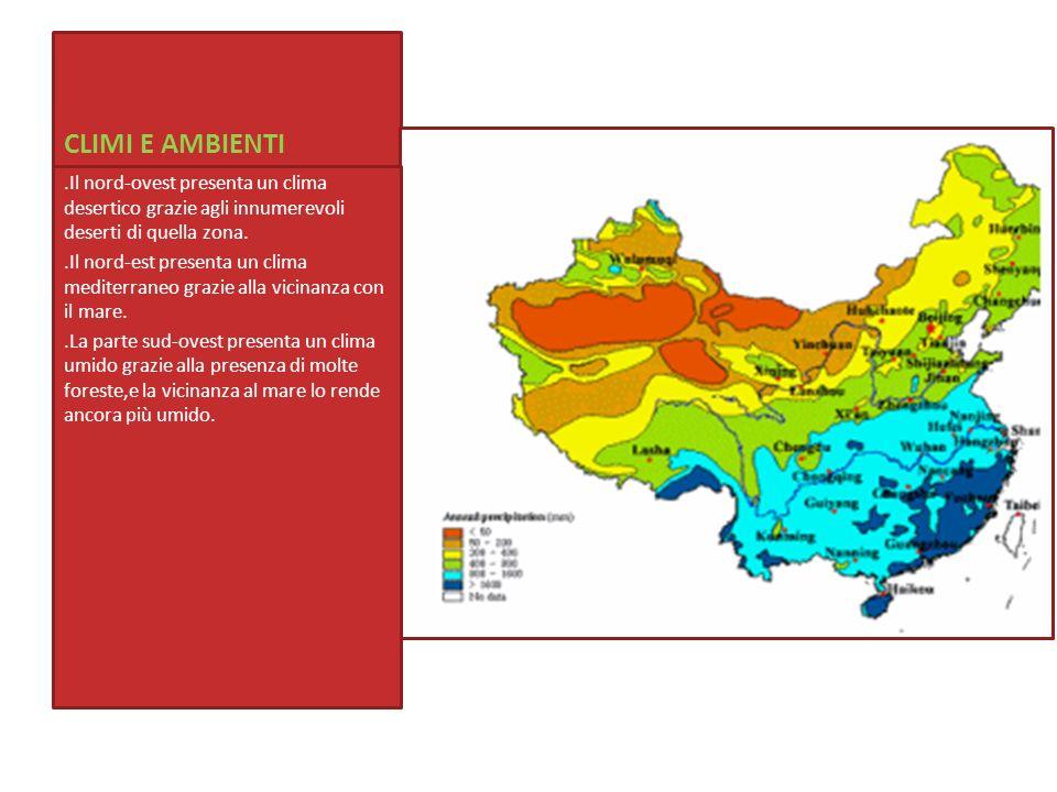 Cartina climi Cina