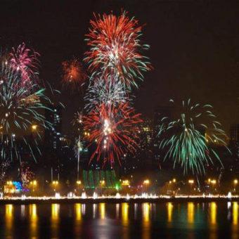 Fuochi d'artificio Sparati durante il Diwali