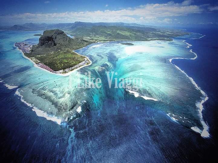 L'illusione ottica della Cascata Sottomarina tra le isole Mauritius