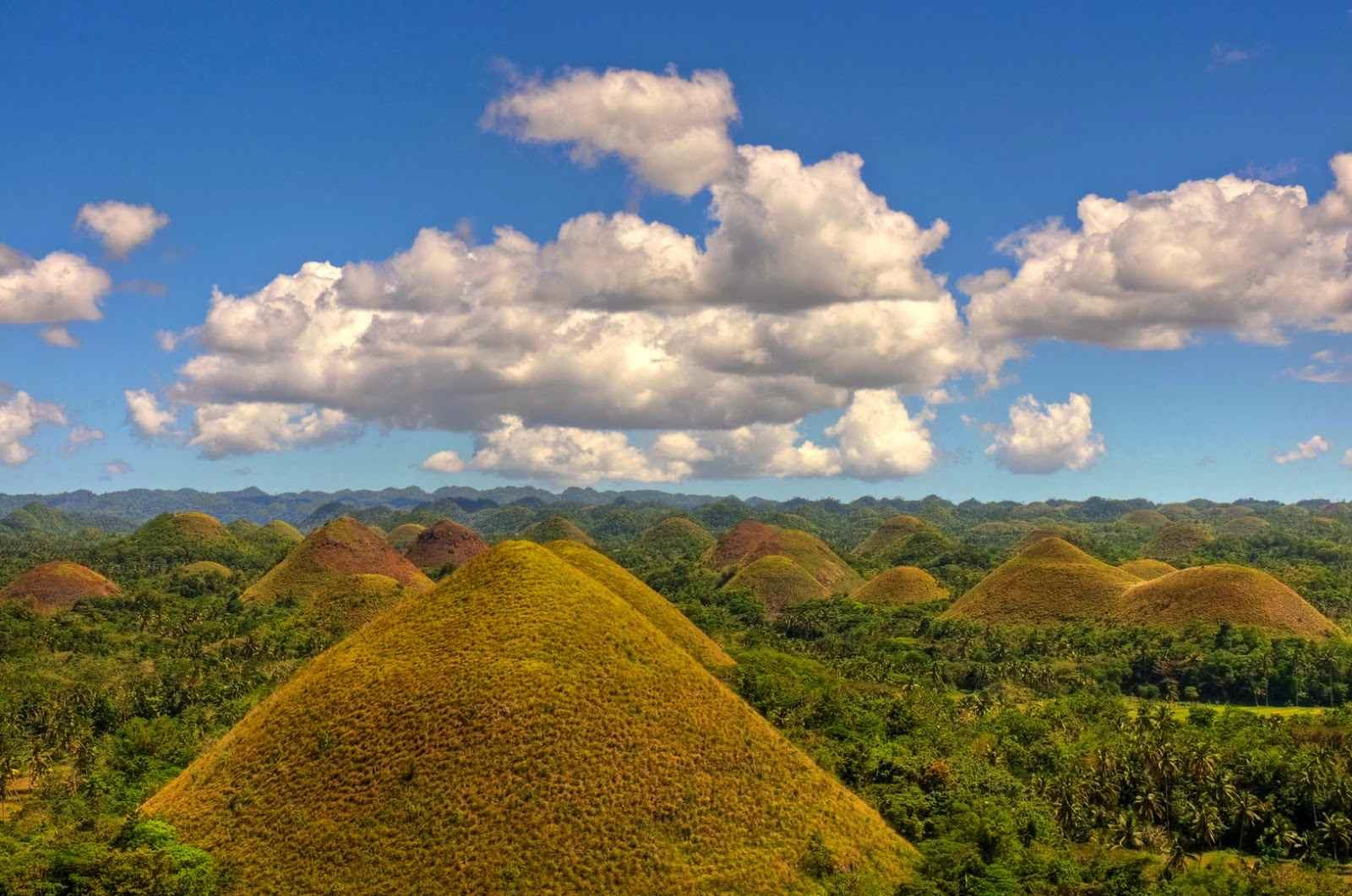 Le Chocolate Hills nelle Filippine
