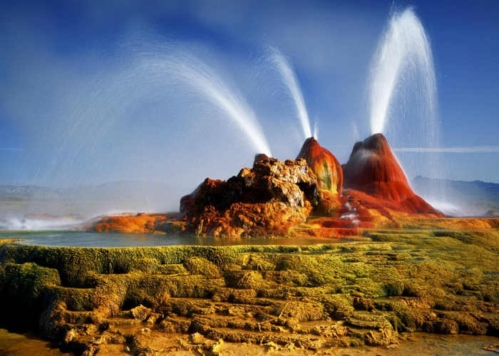 Il famoso Fly Geyser in Nevada