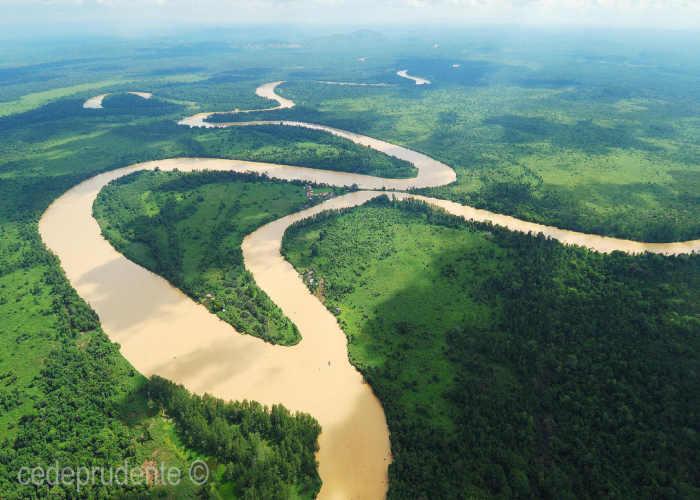 Un tratto del fiume Kinabatangan