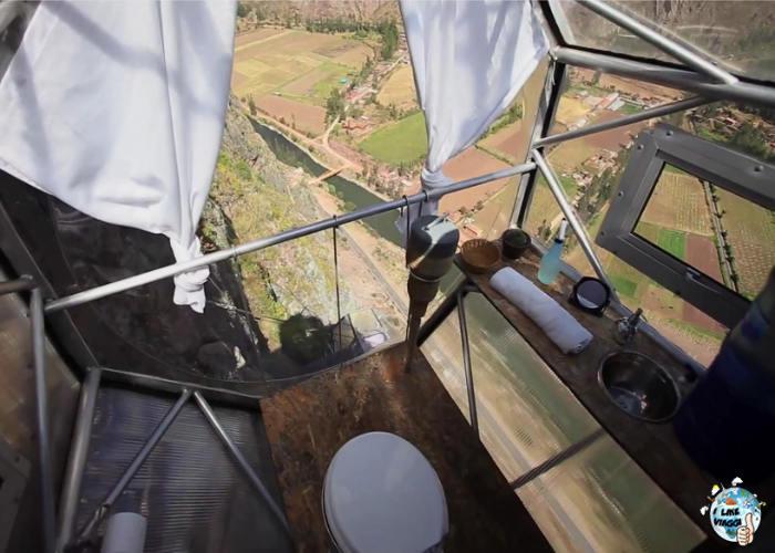 L'interno di una delle capsule dello Skylodge in Perù