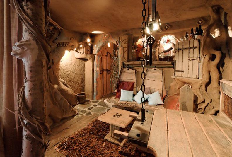 Una bellissima stanza della Balade Des Gnomes completamente in legno