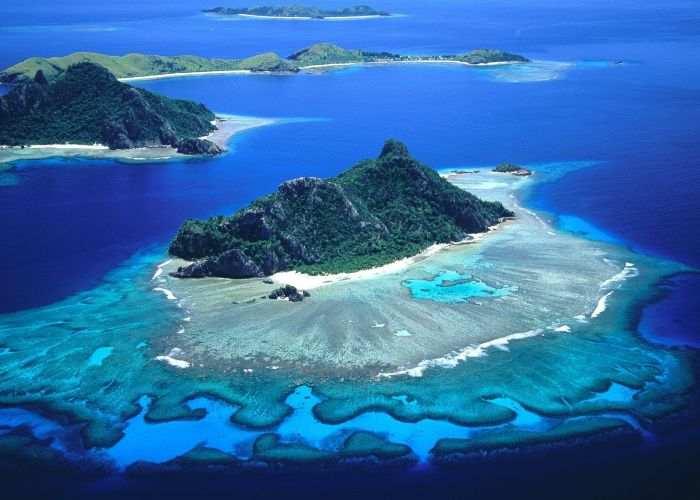 Un arcipelago con tre delle isole Fiji