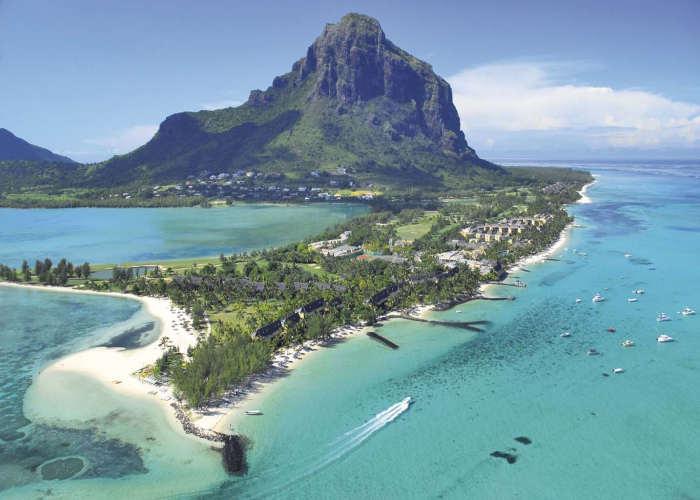 Una sporgenza nell'isola di Mauritius