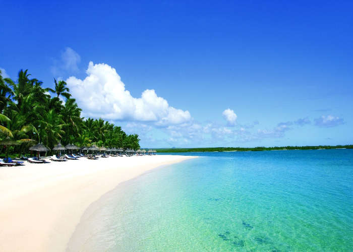 Una spiaggia durante un viaggio di nozze a Mauritius