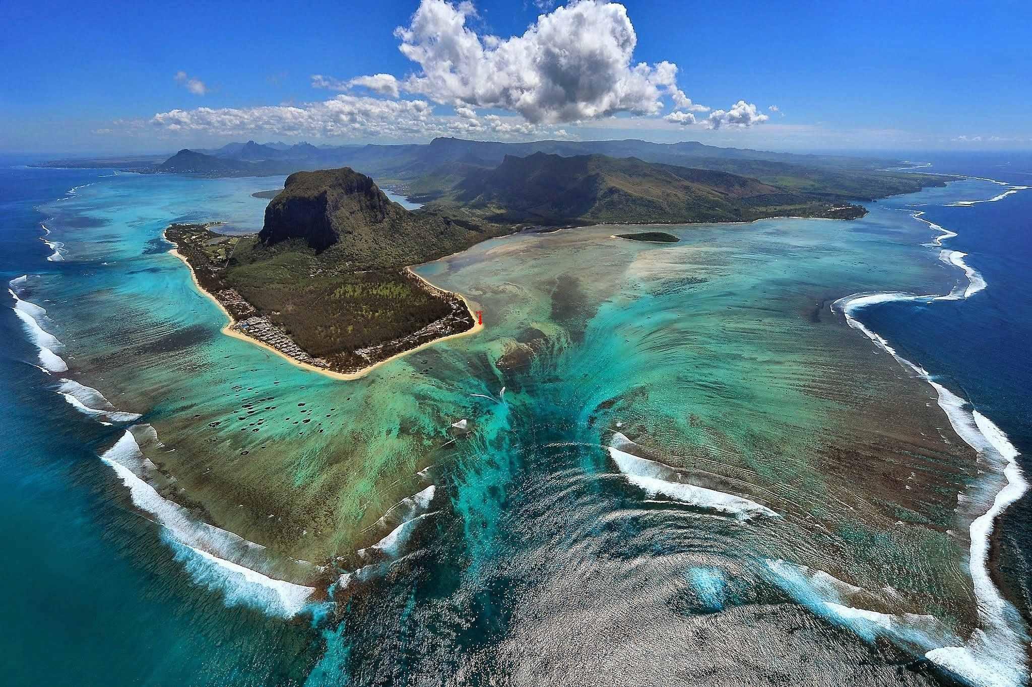 Cascata Subacquea a Mauritius