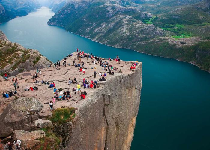 Pulpit Rock in Norvegia