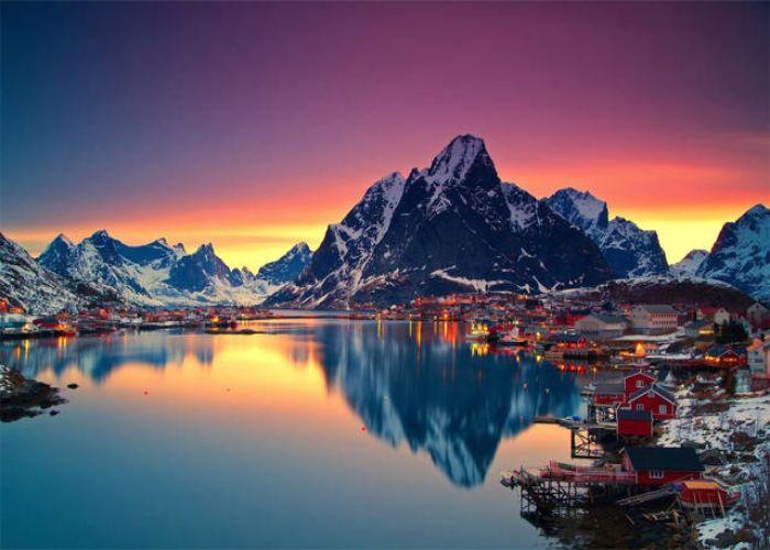 Il paesaggio intorno ad Å, il paese con il nome più corto del mondo