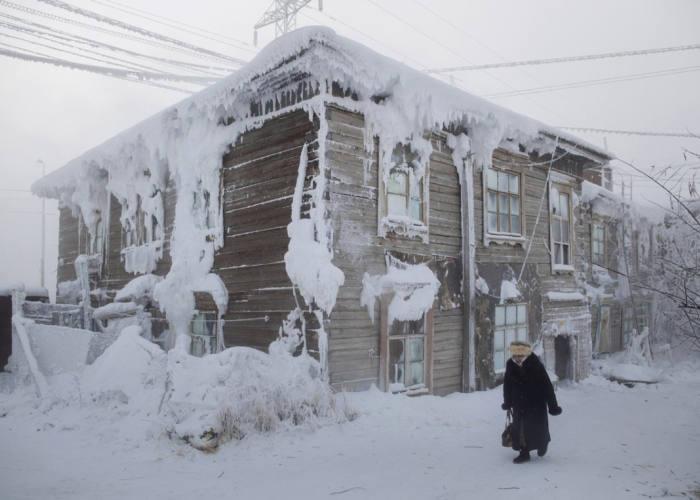 Casa Congelata Ojmjakon