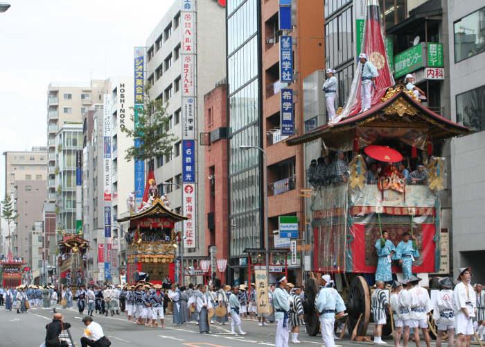 Il quartiere delle Geisha, Gion durante la festa del Matsuri